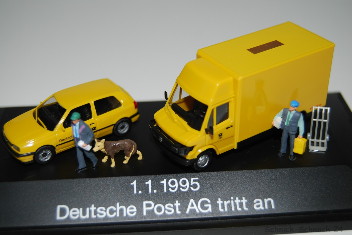 herpa set 1 87 deutsche post ag tritt an 1 kleindiorama ovp 21334 ebay. Black Bedroom Furniture Sets. Home Design Ideas